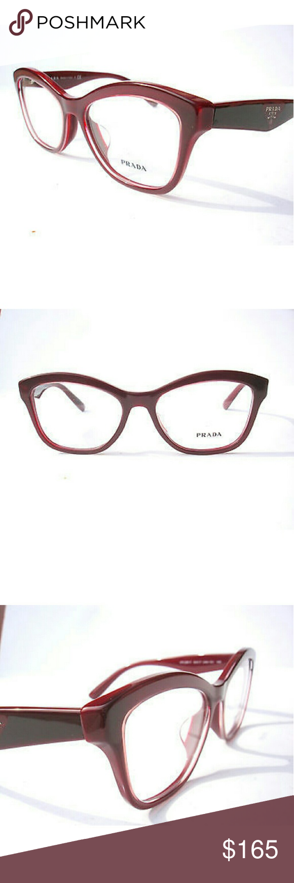 75f7e573c31f Prada Eyeglasses New Prada Eyeglasses Burgundy frame Size 54-17-140  Includes Chanel case Prada Accessories Glasses