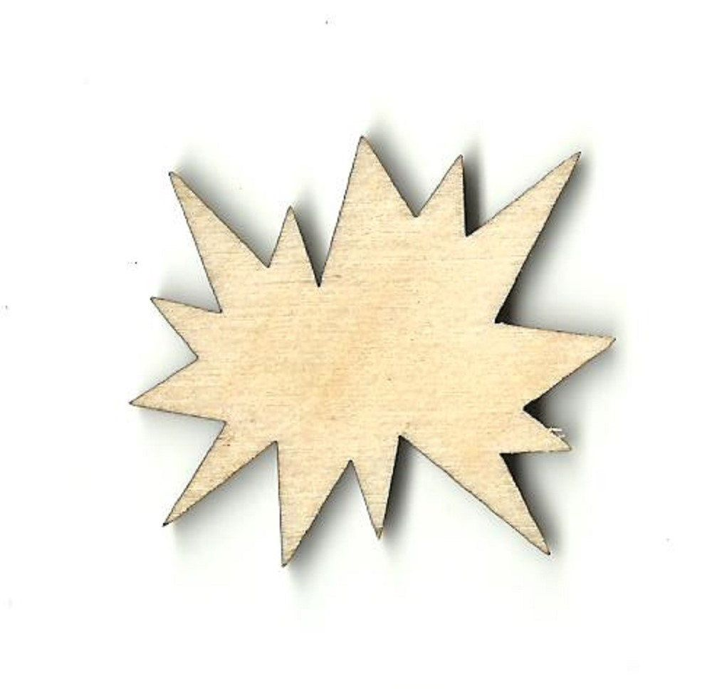 Unfinished wood craft pieces - Laser Cut Unfinished Wood Shapes Comic Book Superhero Word Splat Variety Of Sizes Craft Supply Diy