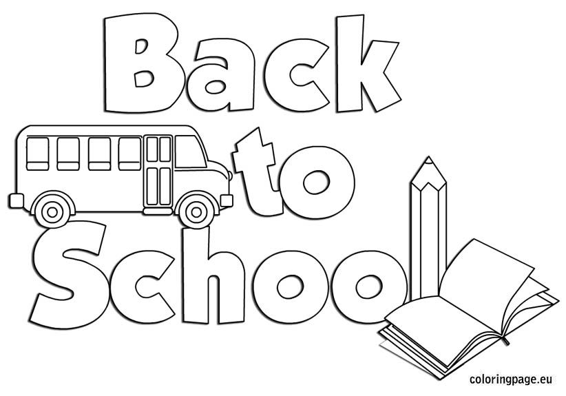back to school coloring sheet - Welcome Back To School Coloring Pages