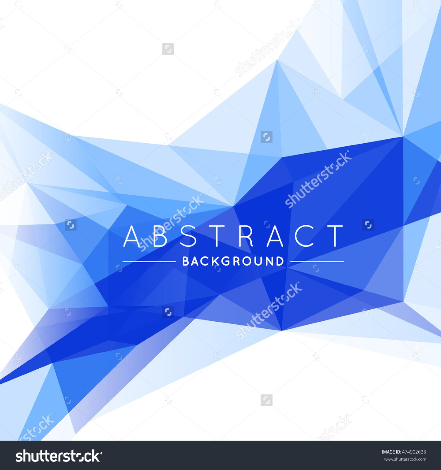 Geometric Blue And White Abstract Vector Background For Use In