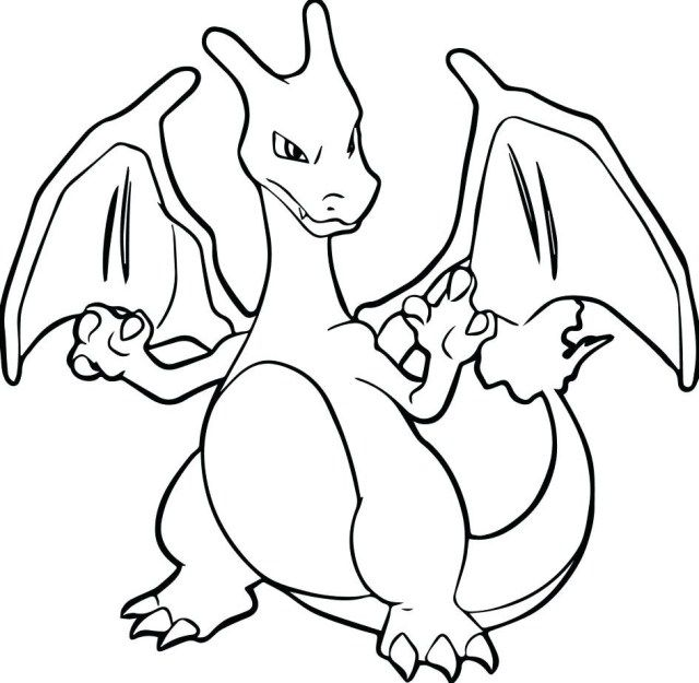 excellent picture of charmander coloring page