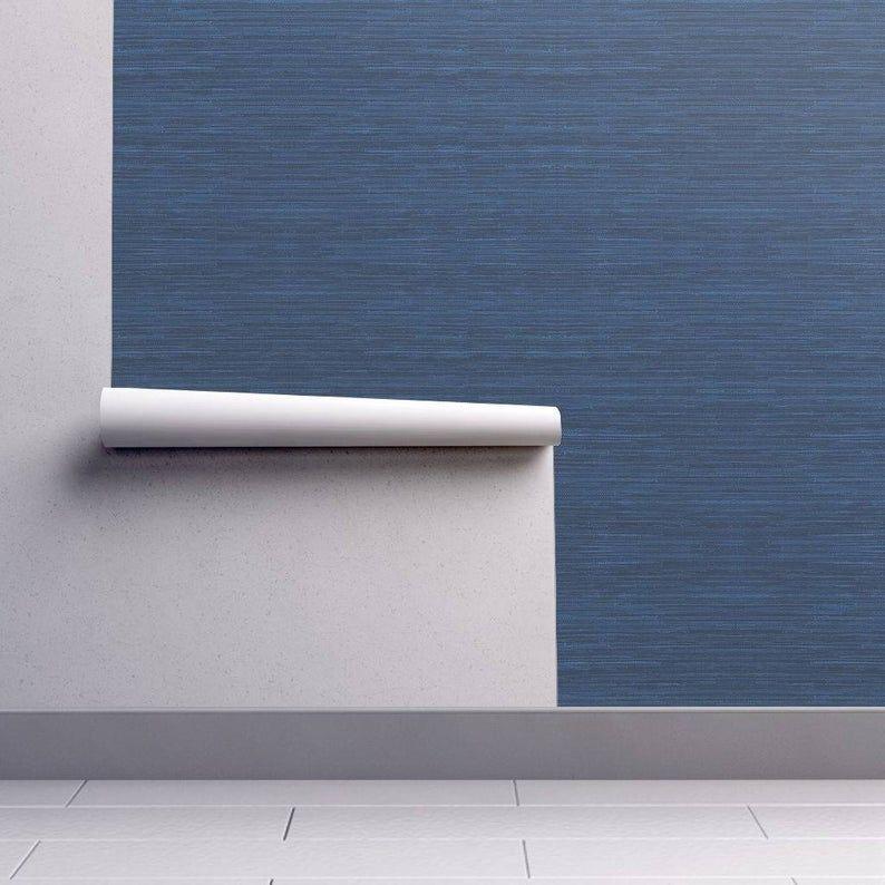 Blue Texture Print Wallpaper