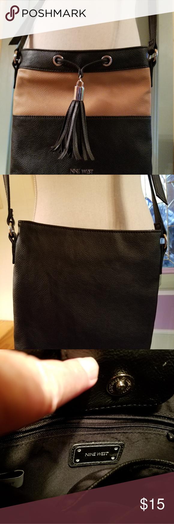 f13b6994bcdb Nine West Crossbody bag Nine West Crossbody bag, 9x9, one slip pocket & one  zip pocket interior. Fringe detail on front. Magnetic snap closure.