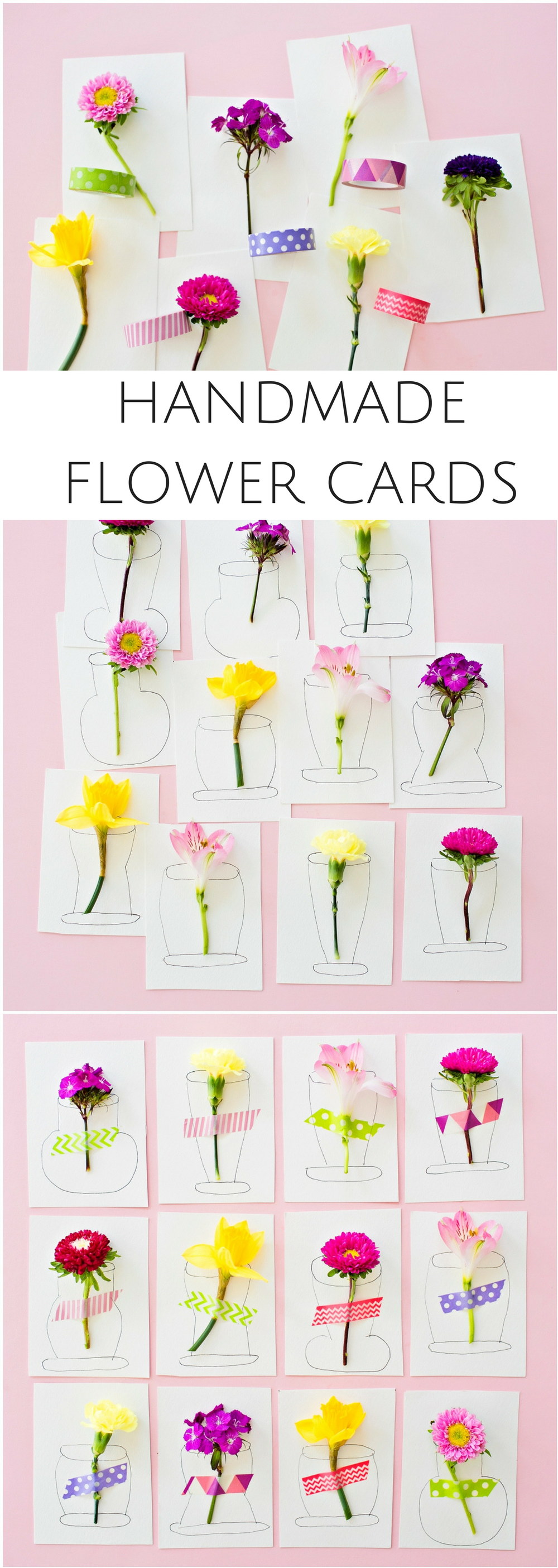 Pretty d flower handmade cards cute diy cards kids can make for