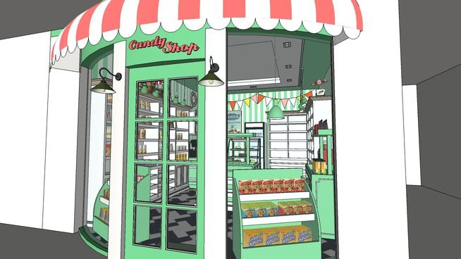 Large preview of 3D Model of Candy Shop