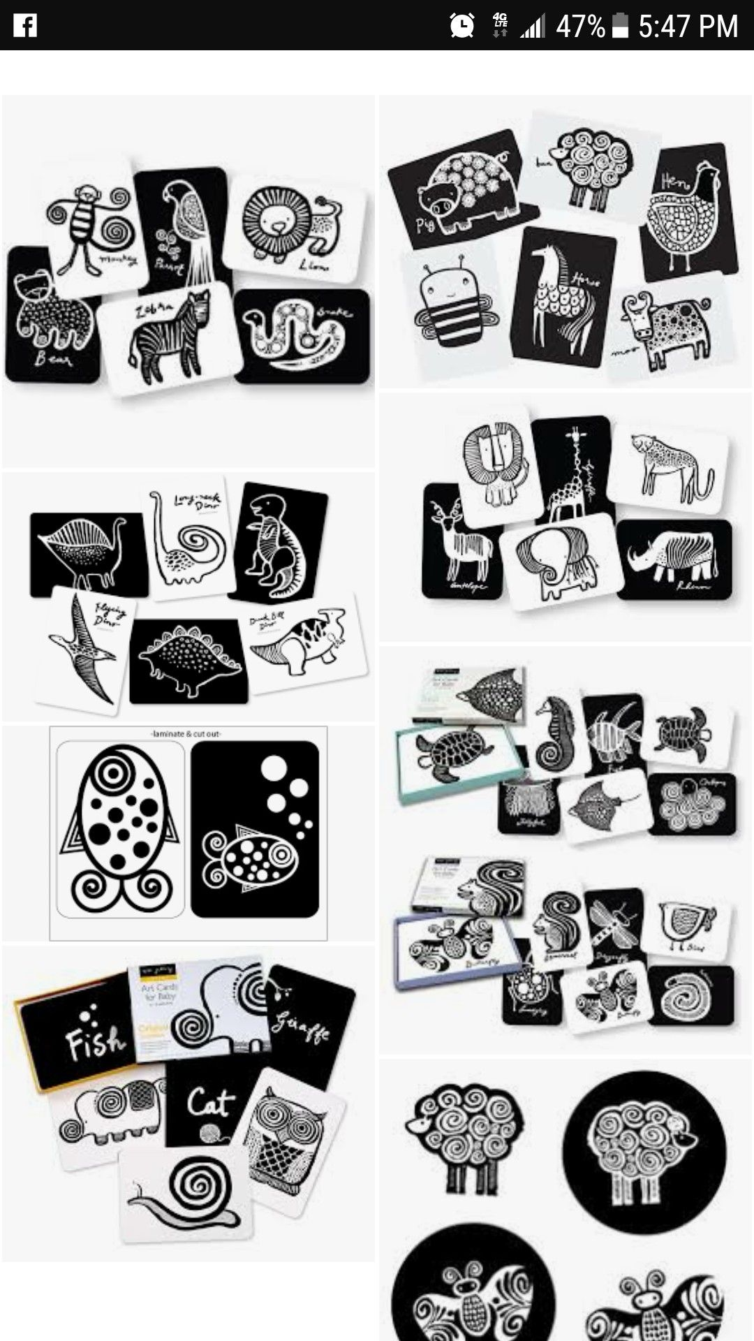 Black and white montessori high contrast visual stimulation baby