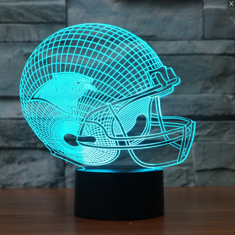 Nfl Carolina Panthers 3d Led Light Lamp Led Led Lamp Nfl Denver Broncos