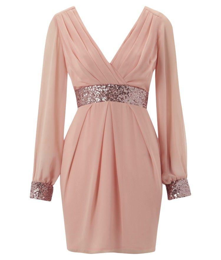 cuffed sleeve dress | vestidos para fiesta | Pinterest | Vestidos ...