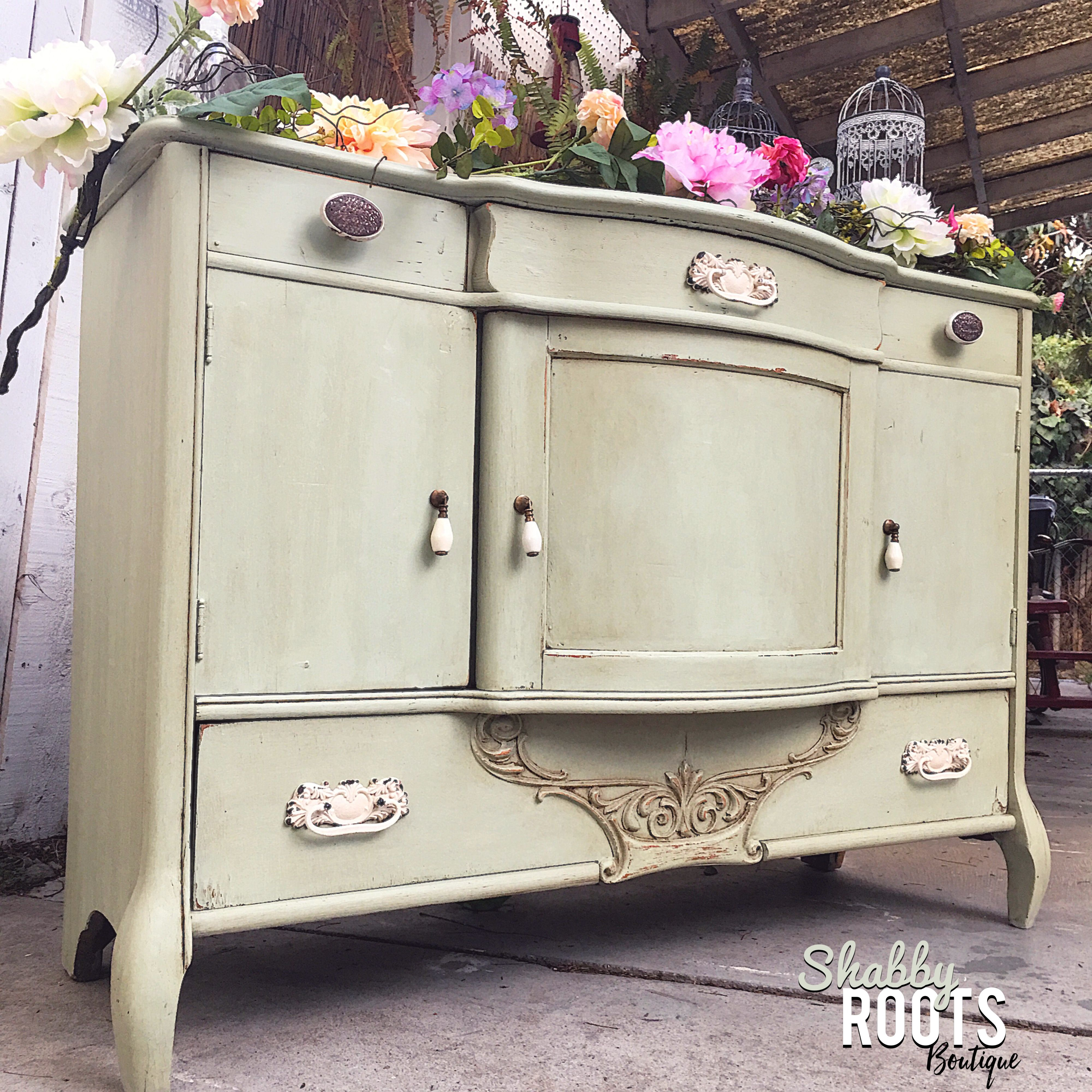 Plaid Waverly Chalk Paint in Celery with clear and dark wax- by ...
