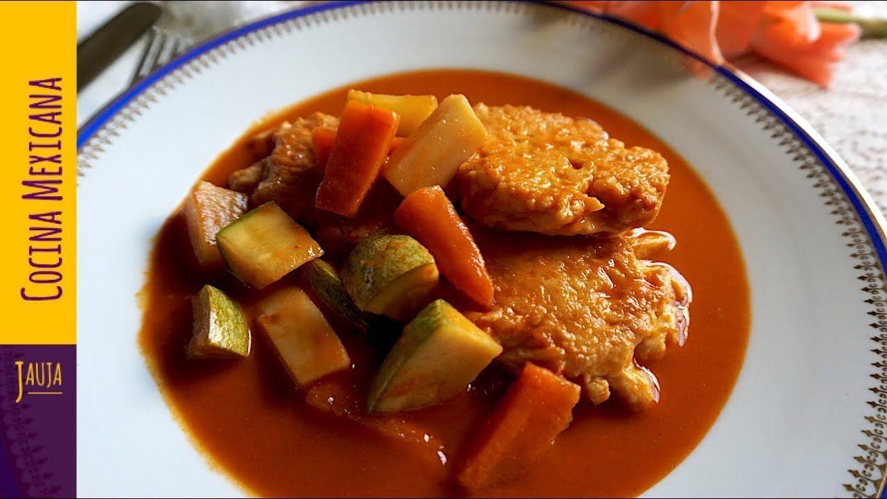 Tortitas De Pollo En Salsa Roja Con Verduras Tortitas De Pollo De