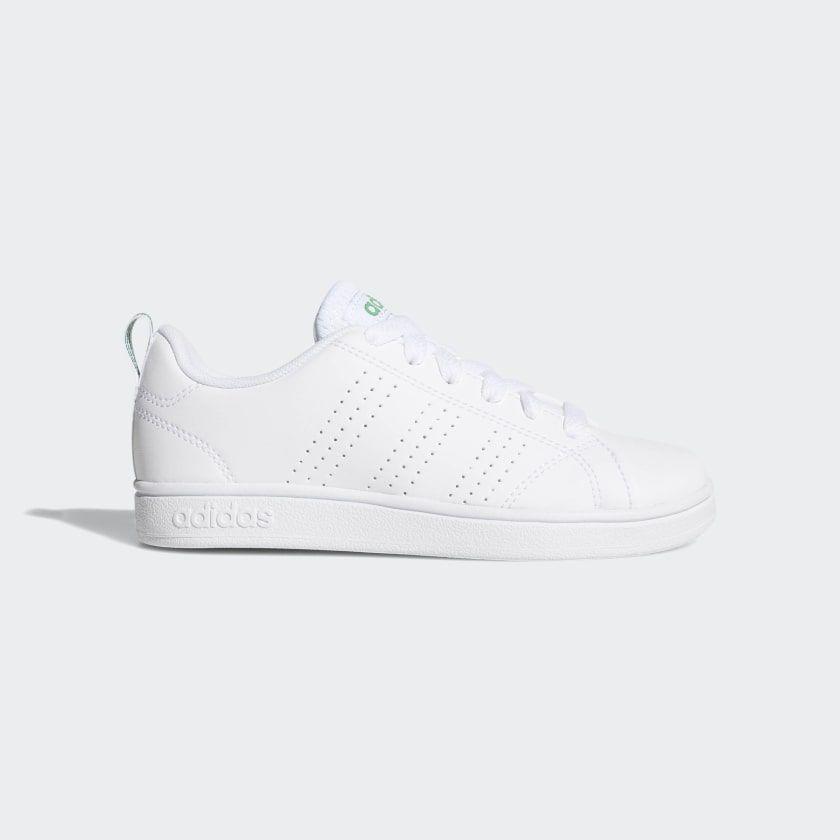 Advantage Clean Shoes Cloud White Cloud White Green
