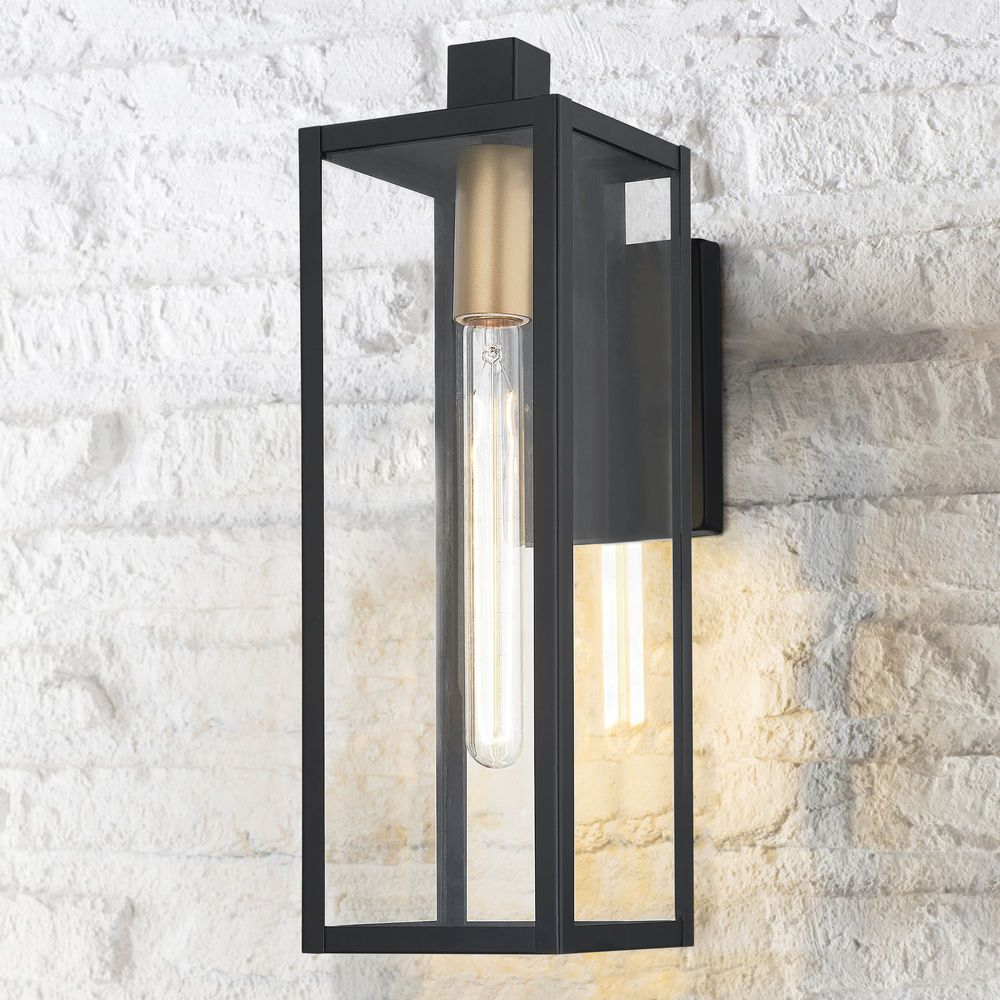 Modern Outdoor Wall Light Black 17 25 Inches Tall At Destination Lighting In 2020 Modern Outdoor Wall Lighting Contemporary Outdoor Lighting Outdoor Sconce Lighting