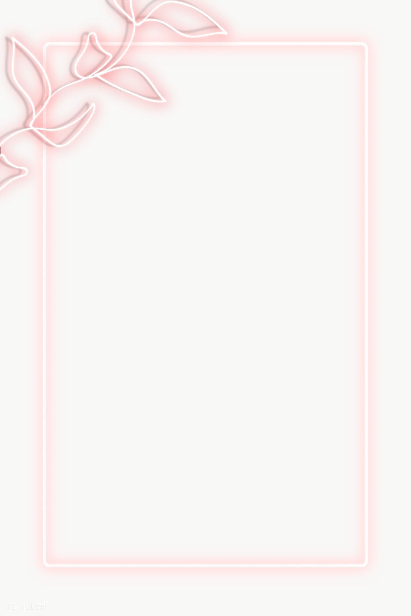 Old Rose Neon Lights Frame With Leaves Transparent Png Premium Image By Rawpixel Com Nunny Pink Neon Lights Neon Lighting Frame