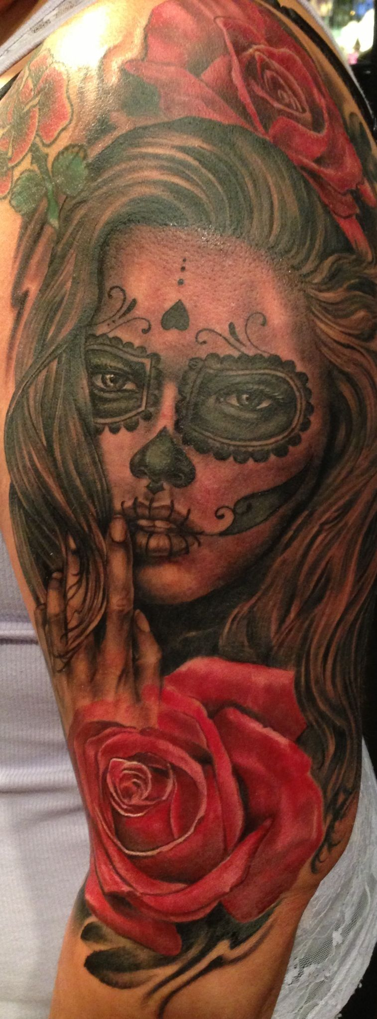Day of the dead tattoo by joey hamilton day of the dead