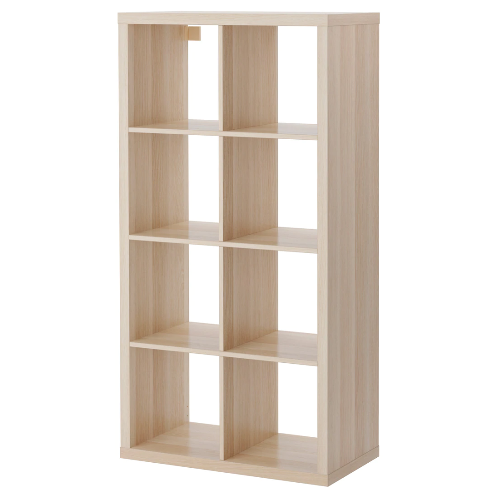 Kallax Etagere Effet Chene Blanchi 77x147 Cm Decor De Bureau A Domicile Panier Rangement Ikea Idees Etageres