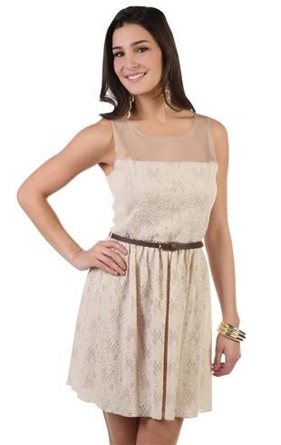 sammi illusion tank embroidered lace dress with
