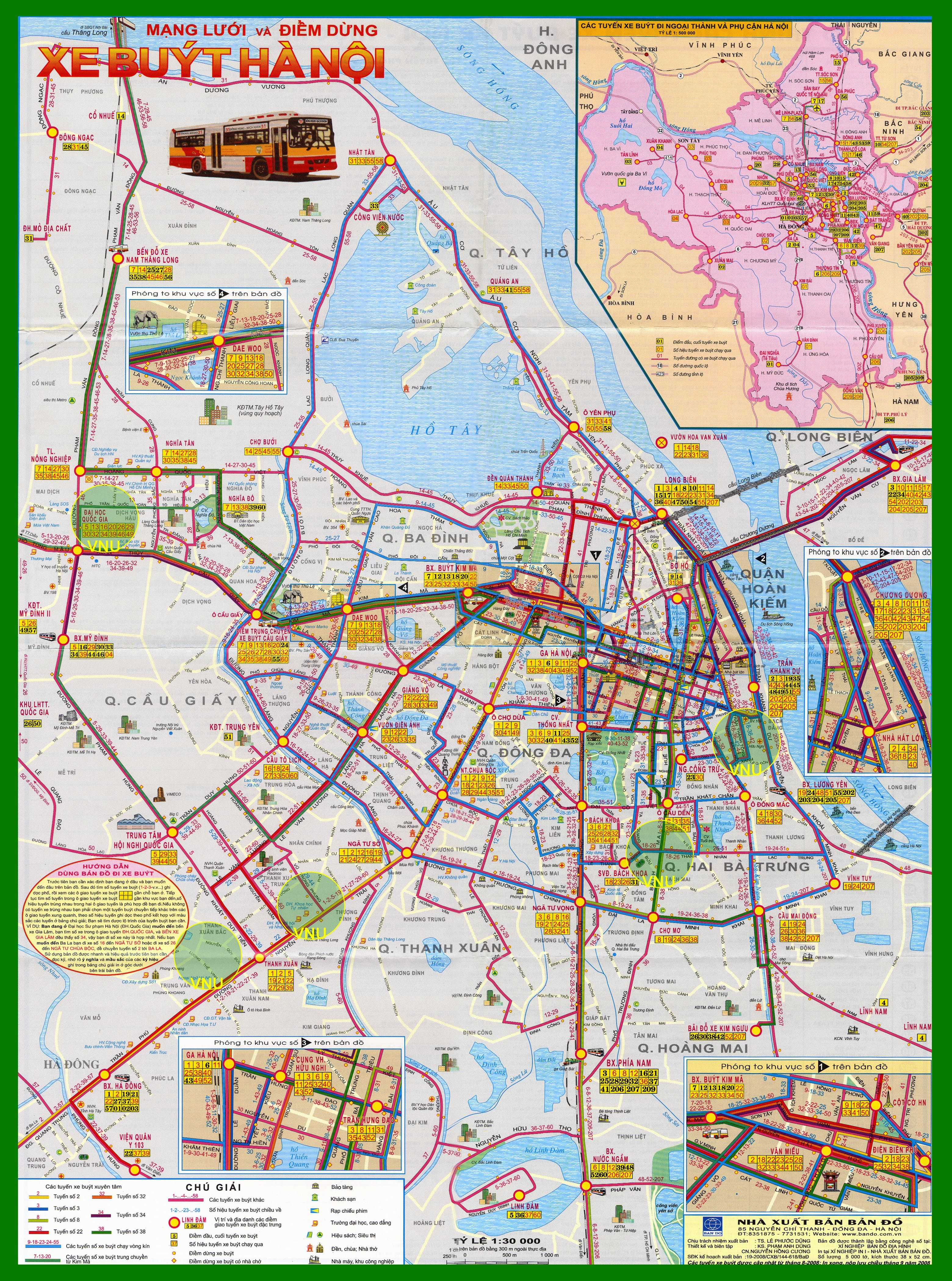 Hanoi - bus map | Vietnam | Pinterest
