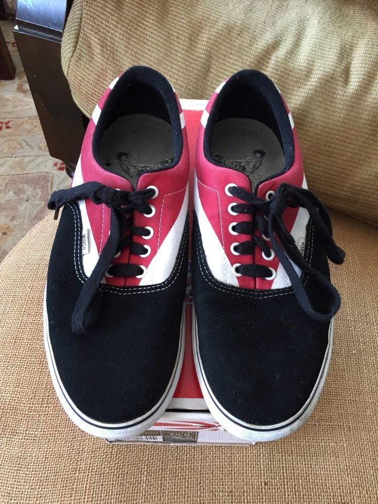 9d0eab11e1a1d5 Vans Mens 13 M RARE Hosoi Rising Sun Era Pro Res White Black Shoes Lace Up   VANS  FashionSneakers