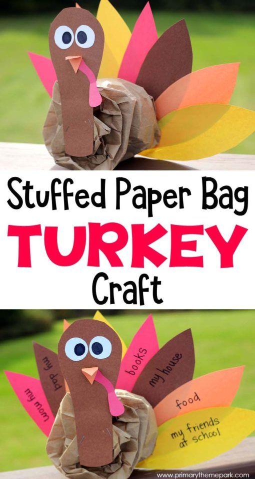 Paper Bag Turkey Craft Turkey Craft Thanksgiving And Craft