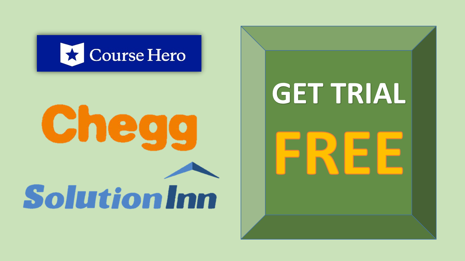 See free answers with chegg, solutioninn free trial