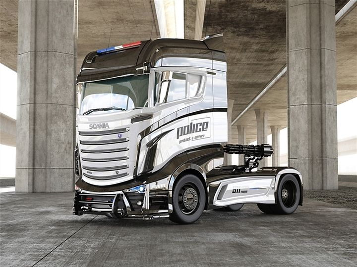 Concept Scania R1000 Police Truck | Truck's | Pinterest | Rigs ...