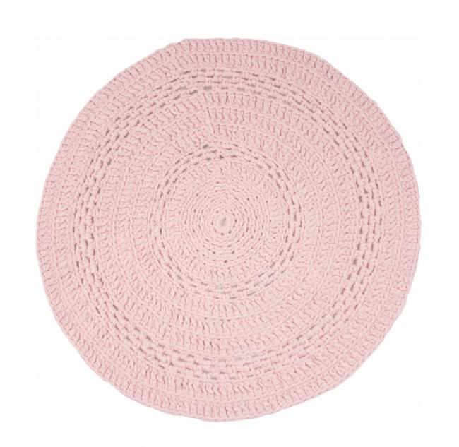 gehaakt vloerkleed peony baby roze 80 cm - naco trade, Deco ideeën