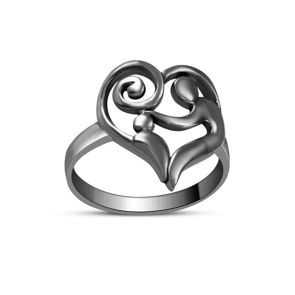71ea13b3a1 Exclusive Design 925 Sterling Silver Without Sone Mom-Child Heart Ring  #adorablejewelry #MomChildHeart
