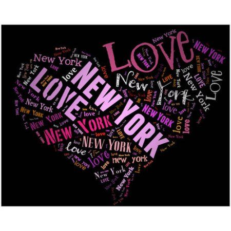 I Love New York! Black Art by Eazl, Purple
