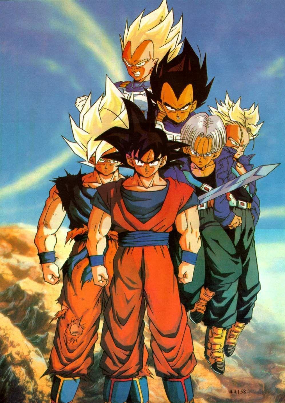 Goku vegeta and trunks - Comment dessiner trunks ...