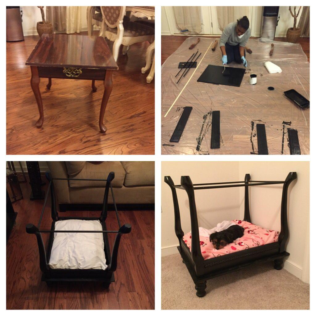 Diy Four Poster Dog Bed Dog Beds Homemade Dog Bed Luxury Dog
