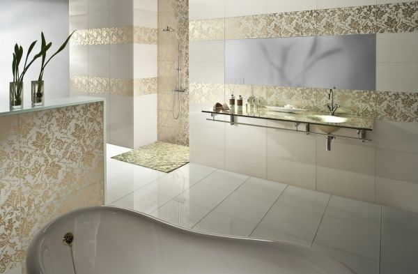 Wohideen badezimmer fliesen gold optik keramik for Fliesen holzdielen optik