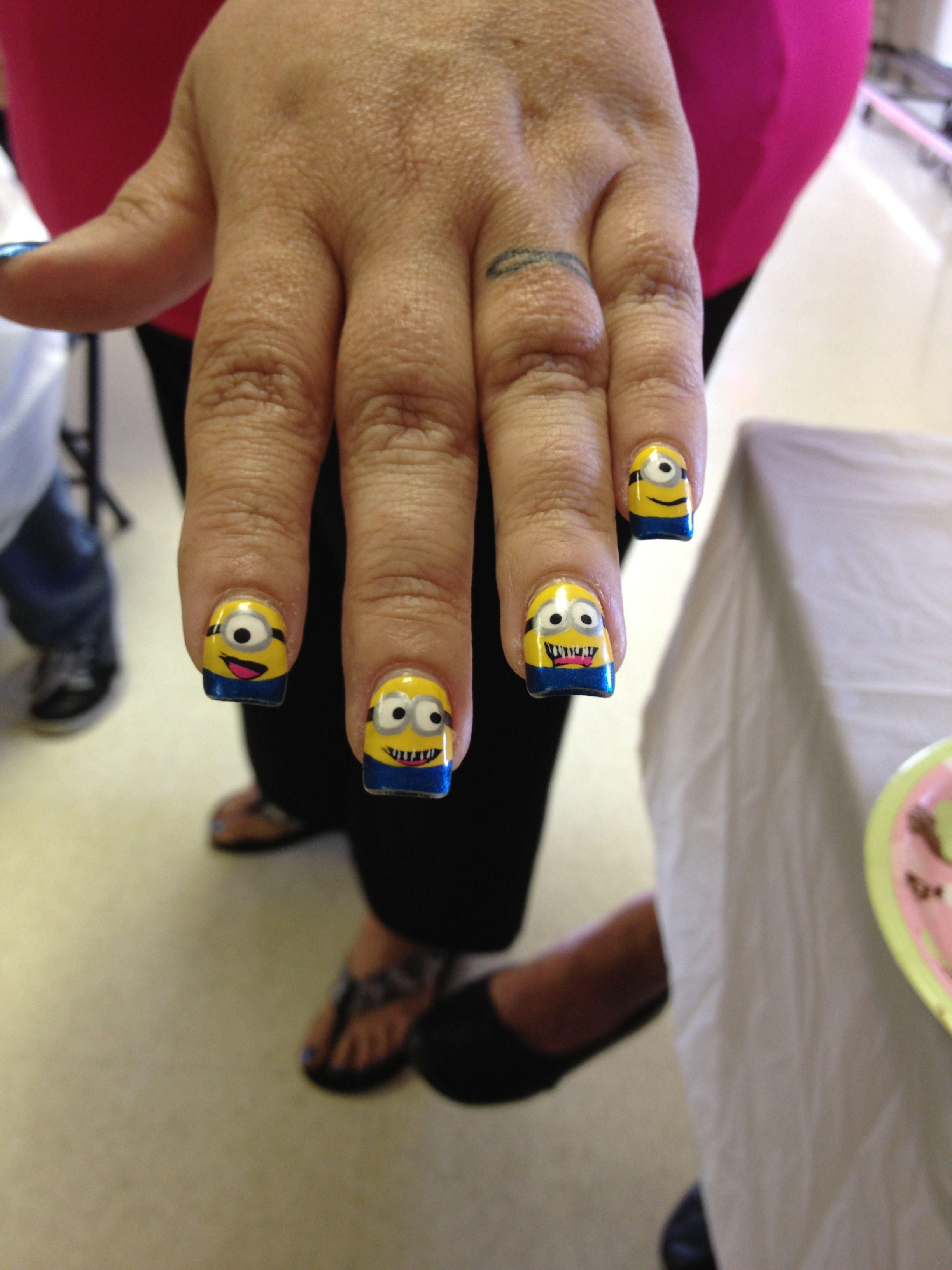 Minion nails | Nails | Pinterest
