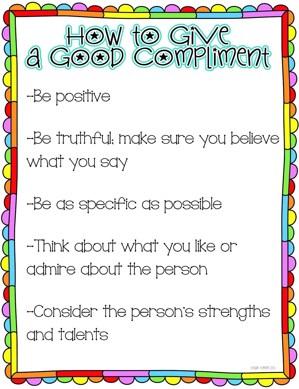 Traits Of A Good Compliment