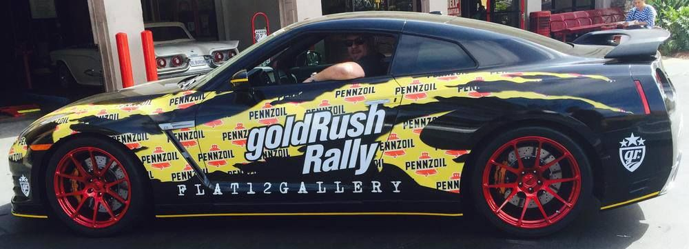 Our friend Jeff Allen (from Flat 12 Gallery and the The Car Chasers TV show) is in San Diego to start the first leg of the goldRush Rally, driving the Pennzoil Pennzilla Nissan GT-R on Forgeline one piece forged monoblock GA1R wheels finished in Transparent Red. If you're near San Diego today, then you can meet the teams and see the cars between 9am-5pm PT at Petco Park.  #Forgeline #forged #monoblock #GA1R #notjustanotherprettywheel #madeinUSA #goldrushrally #Pennzilla #Nissan #GTR