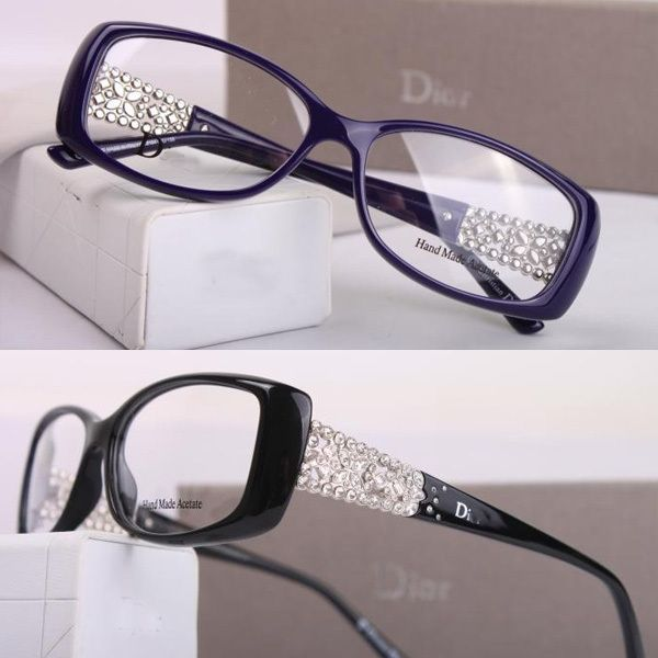 0d168b4bf56325 2014 rhinestone glasses myopia eyeglasses frame womens ultra-light tr90  full frame plain glass spectacles frame US  49.00. Dior