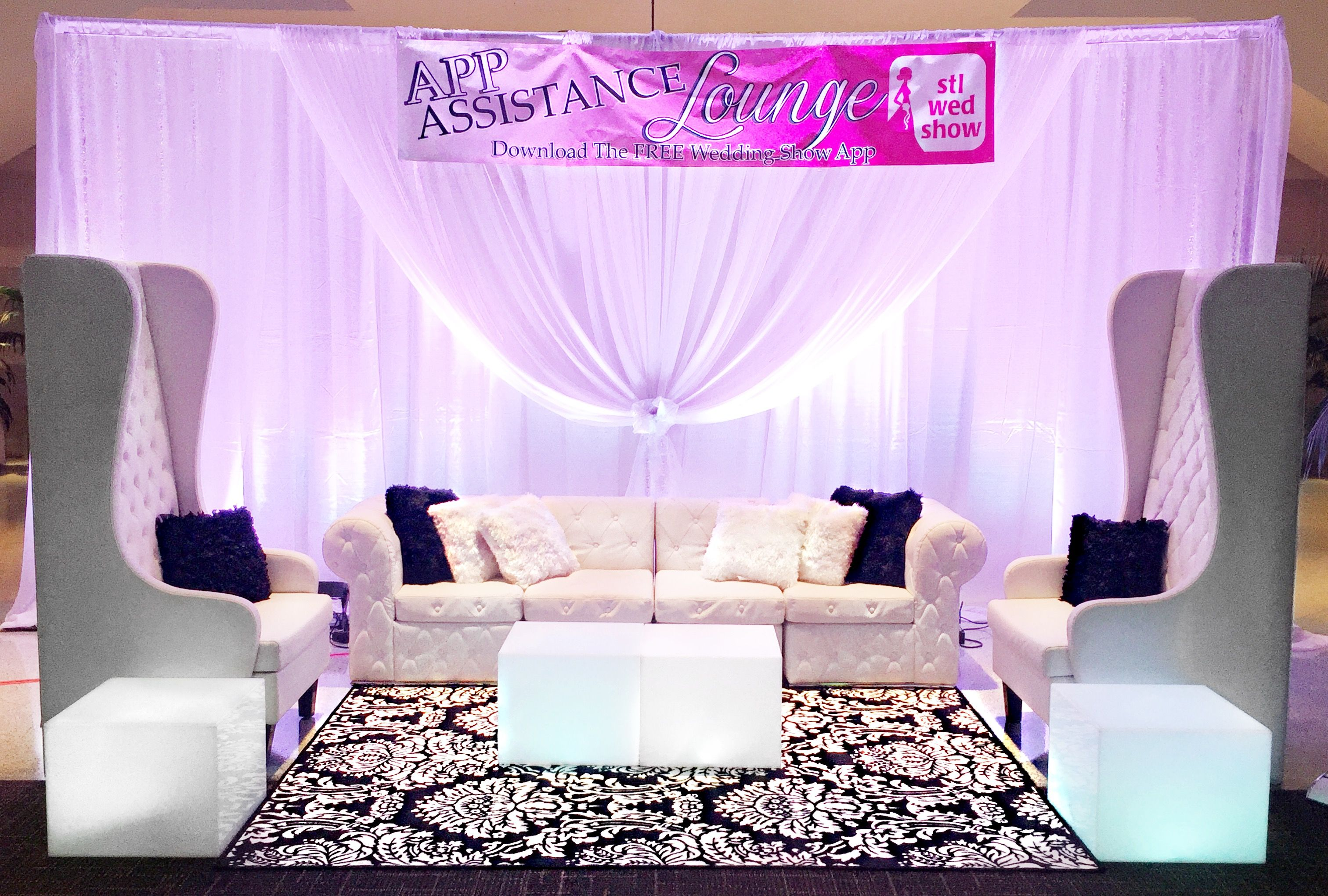 Sofa Expo Vip No Back Party Rentals In St Louis Wedding Shows