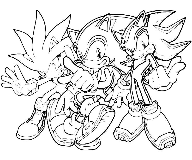 Free Printable Sonic Generations Silver The Hedgehog Team Coloring Pages