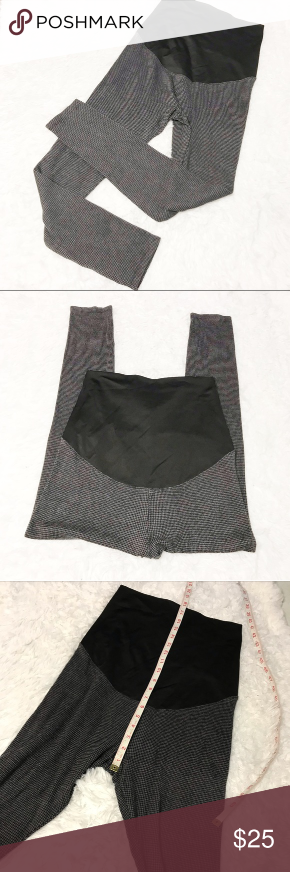 afeedb4c167a0 Lou & Grey Maternity Gray houndstooth leggings SM EUC Flawless Stretchy  Skinny Please look at pictures