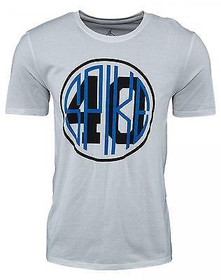 timeless design 70de2 63611 Nike Air Jordan Spike 40 T-Shirt Mens 807299-100 White Blue Black Tee Size M