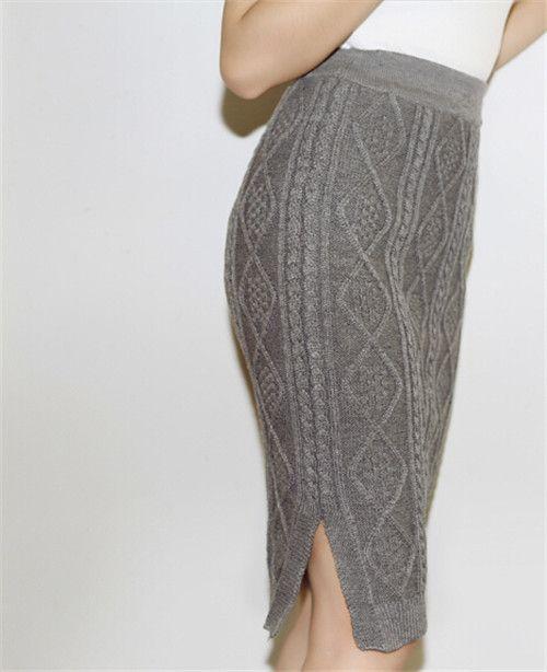 Bq55 зима женщины завышенная талия длиной до колен ...