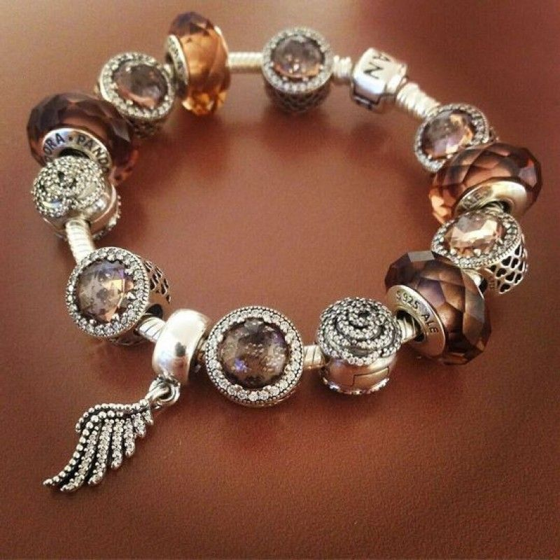 Pandora Charms Bracelets: 925 Sterling Silver Finished Pandora Charm Bracelet-Blush