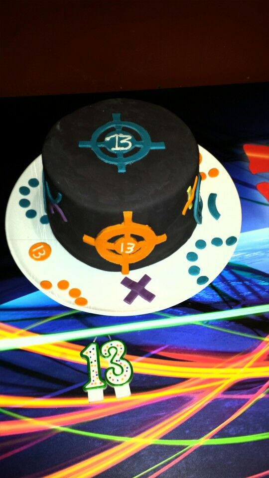Laser Tag Birthday Cake 13th Birthday At Laser Quest Old Birthday