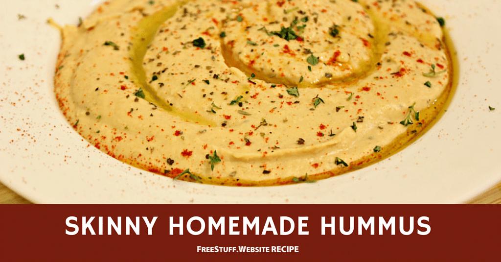 Skinny Homemade Houmous  Recipes  Homemade hummus, Hummus, Recipes