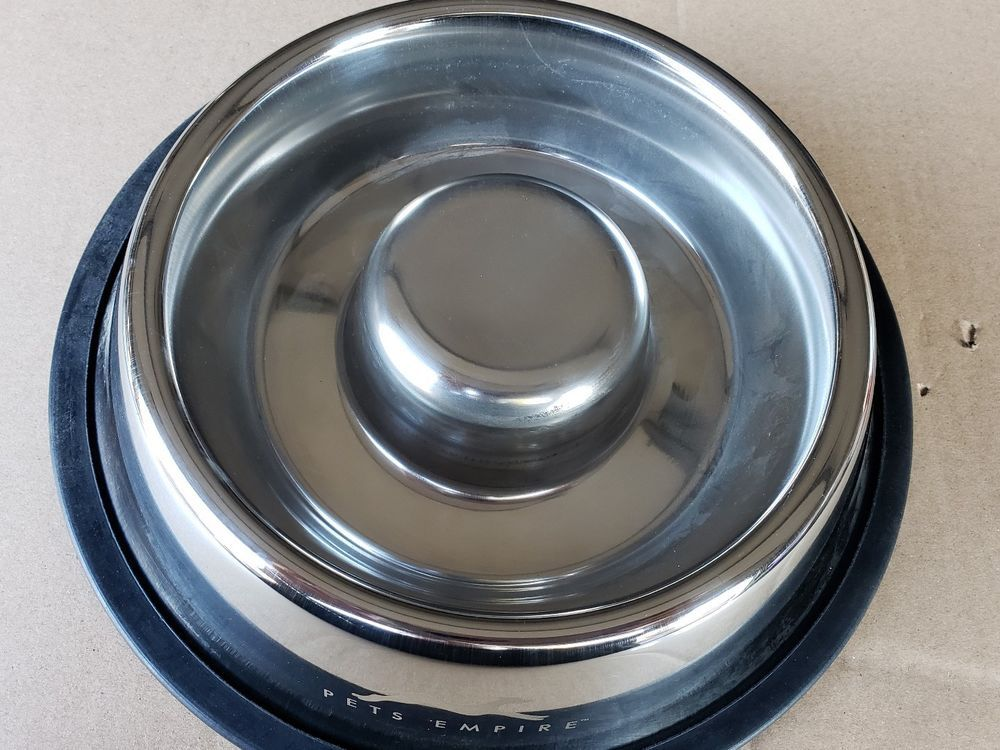 Pet Dog Food Bowl For Fast Eaters Slow Them Down Stainless Steel