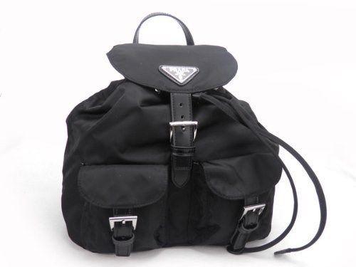 dc176c192539 Prada BZ6677 Small Junior Signature Vela Nylon Backpack in Black (  Pre-Owned ) #PRADA #BackpackStyle