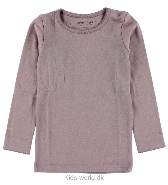 Mini A Ture Bluse - Rosa m. Prikker