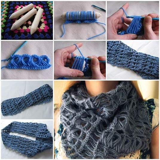 Diy Stylish Broomstick Lace Crochet Scarf Broomstick Lace Scarves