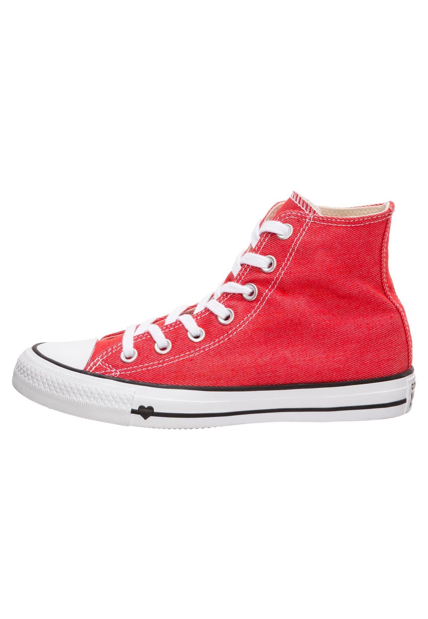 CONVERSE Sneaker 'Chuck Taylor All Star' Herren, Rot Weiß
