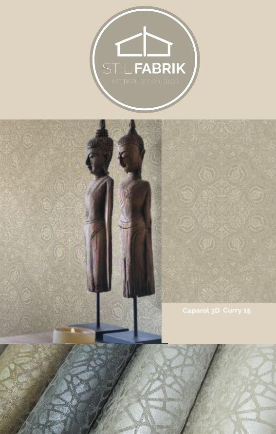 Farb Stilkonzept Rasch Textil 100627 Sahara Beige Braun Ornament Muster  Vliestapete