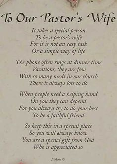 Pastors wife this poem could also work for although not pastor appreciation poems or quotes thecheapjerseys Image collections